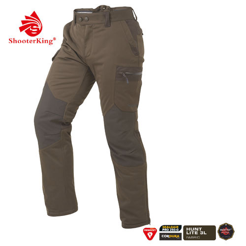 SHOOTERKING Huntflex Primaloft Winter Hose braun/oliv