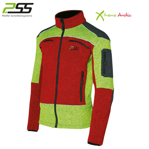 PSS X-treme Arctic Faserstrickjacke rot/gelb